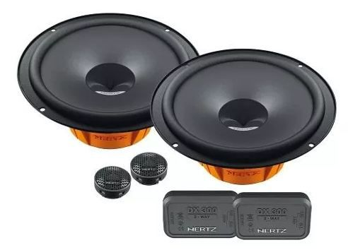 Combo Hertz Kit 2 Vias Dsk 165.3 + Coaxial Dcx 165.3 + Subwoofer Es F20.5 + Amplificador Hcp 4