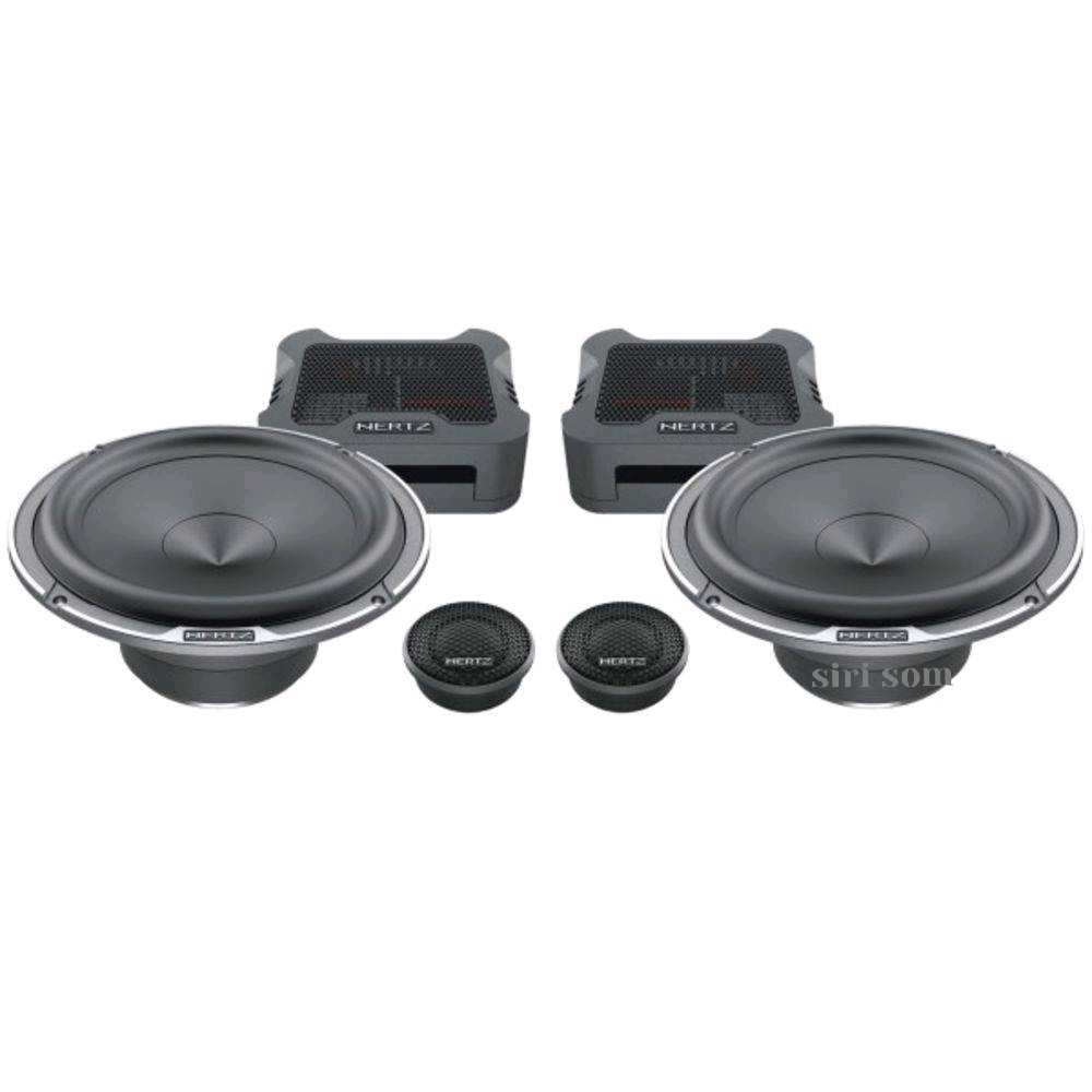 Combo Hertz Kit 2 vias Mille Mpk 165.3 + Coaxial Mpx 165.3 + Amplificador Hcp 4 + Caixa Dba 200.3 + Tratamento 4 Porta + Kit Fiação