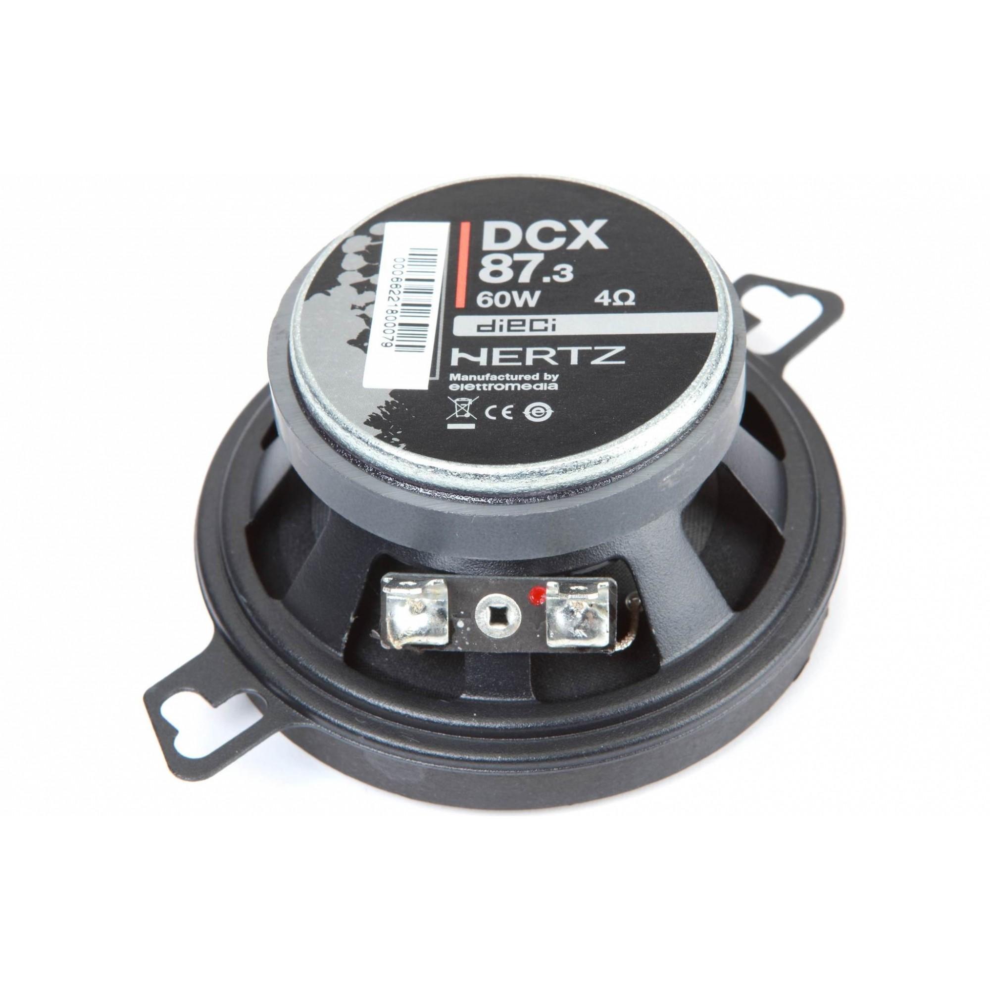 Kit Coaxial Hertz Dcx 87.3 3.4 Polegadas 60 w Rms Italiano