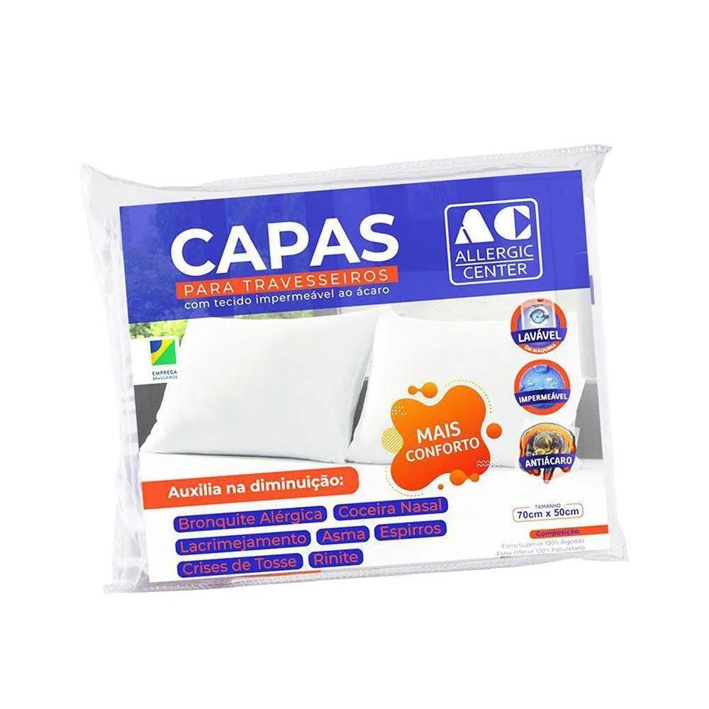 Capa Travesseiro Anti-ácaro Mais Conforto Allergic Center (50 x 70 cm)