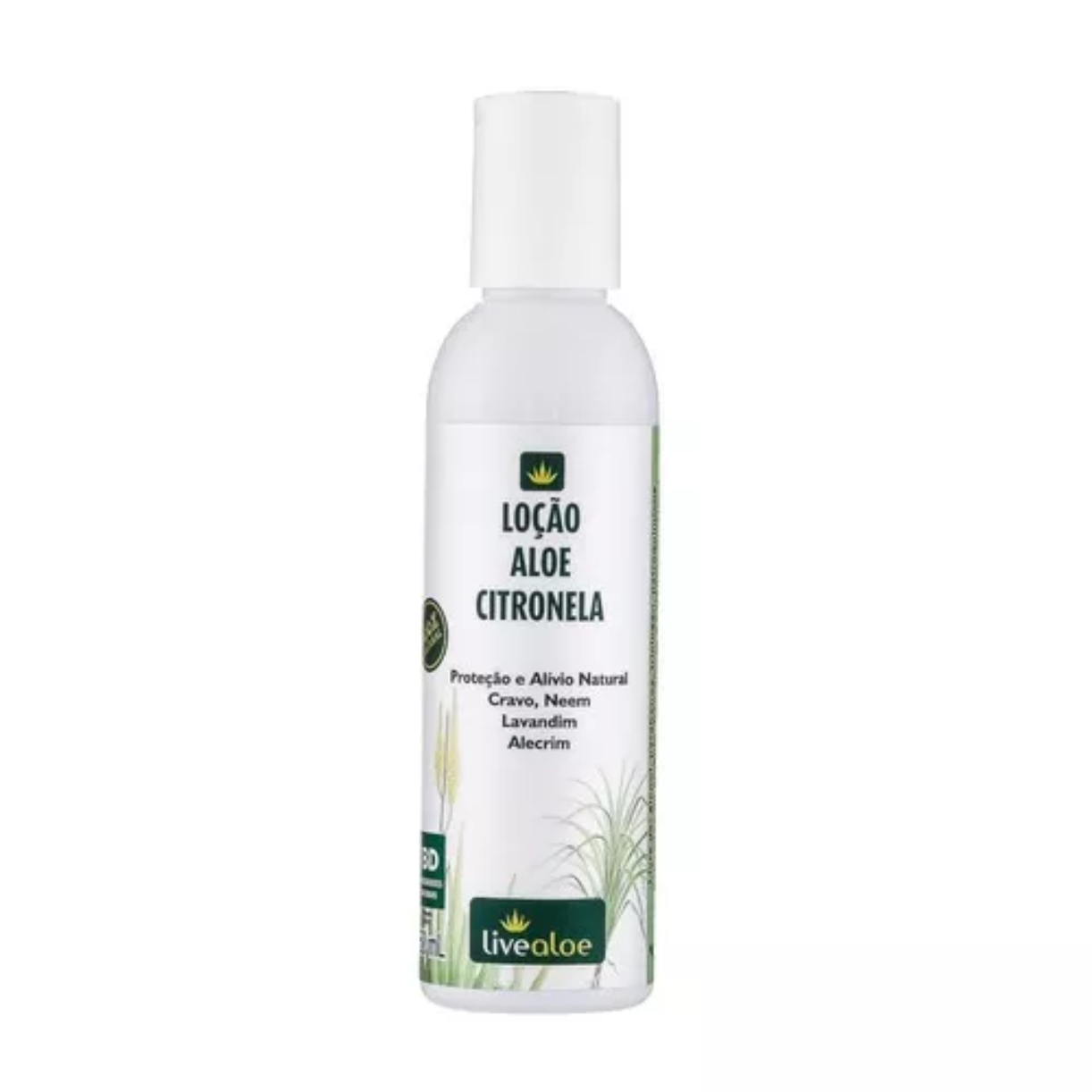 Loção Natural Aloe Citronela 150ml Livealoe