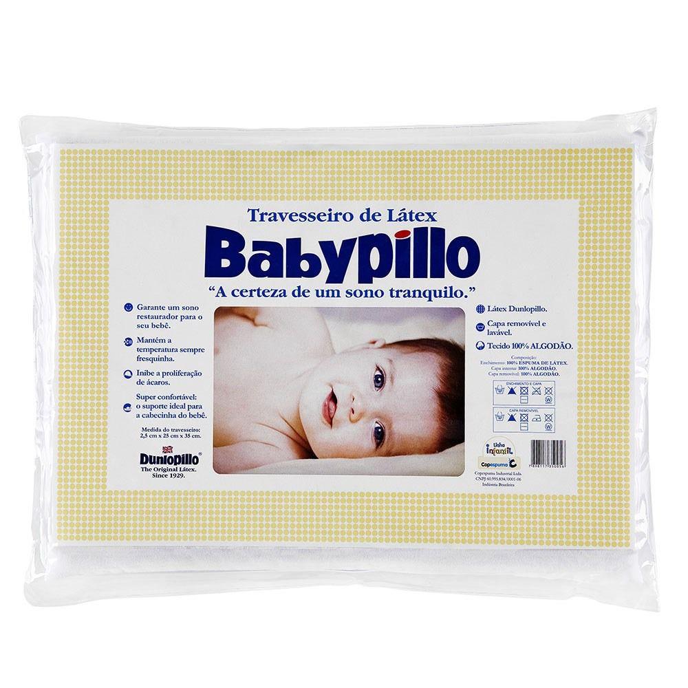 Travesseiro Latex Babypillo Dunlopillo - 25x35