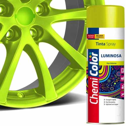Tinta Spray Luminosa Amarelo Fluorescente 400ml Chemicolor