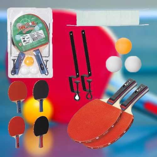 Kit Ping Pong 2 Raquetes + 3 Bolinhas + 1 Rede Profissional Tenis De Mesa -  Loja Catarinense d0db4fd3f550a