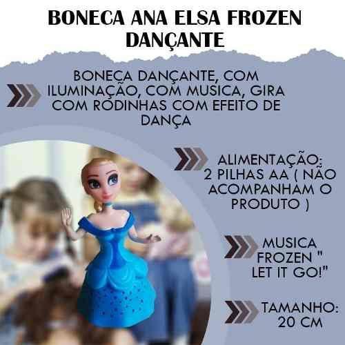 83becb59d Boneca Ana E Elsa 30cm Musical Diversão Meninas Promoção - Loja Catarinense