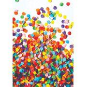 30 Quadrados de Borracha Top + Estampado + Brinde de 30 pares de alças - CARNAVAL - Modelo Confete Colorido