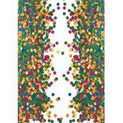 30 Quadrados de Borracha Top + Estampado + Brinde de 30 pares de alças - CARNAVAL - Modelo Confete verde