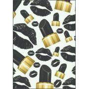 30 Quadrados de Borracha Top+ Estampado + Brinde de 30 pares de alças - Modelo Glamour
