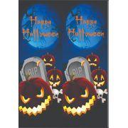 30 Quadrados de Borracha Top+ Estampado + Brinde de 30 pares de alças - Modelo Halloween
