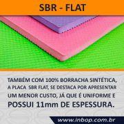 Placa 100% Borracha SBR Flat 1,20m x 0,80m x 10~11mm - Unidade