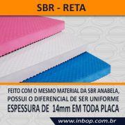 Placa 100% Borracha SBR Reta 1,30m x 0,85m x 14mm - Unidade