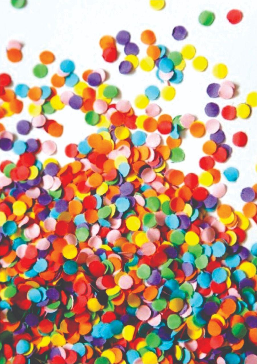 30 Quadrados de Borracha Top + Estampado + Brinde de 30 pares de alças - CARNAVAL - Modelo Confete Colorido  - INBOP - Indústria de Borrachas e Polímeros