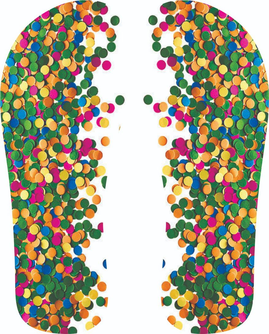 30 Quadrados de Borracha Top + Estampado + Brinde de 30 pares de alças - CARNAVAL - Modelo Confete verde  - INBOP - Indústria de Borrachas e Polímeros