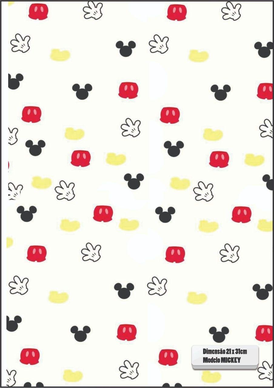30 Quadrados de Borracha Top+ Estampado + Brinde de 30 pares de alças - INFANTIL - Modelo Mickey  - INBOP - Indústria de Borrachas e Polímeros