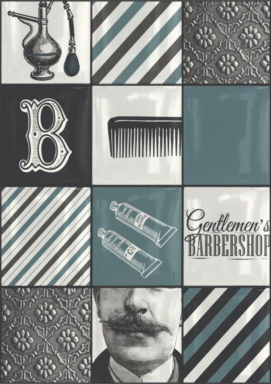 30 Quadrados de Borracha Top+ Estampado + Brinde de 30 pares de alças - Modelo Barber Shop  - INBOP - Indústria de Borrachas e Polímeros