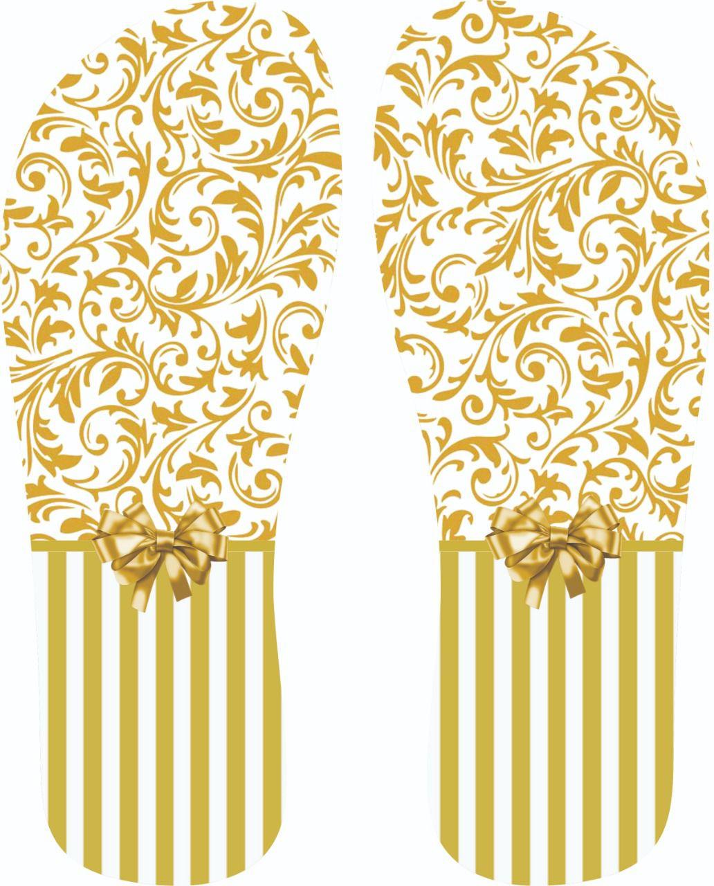 30 Quadrados de Borracha Top+ Estampado + Brinde de 30 pares de alças - Modelo Casamento Ouro  - INBOP - Indústria de Borrachas e Polímeros
