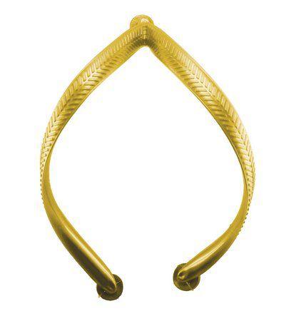 Alças Frisadas Line Dourada FEMININO - Kit com 25 pares  - INBOP - Indústria de Borrachas e Polímeros