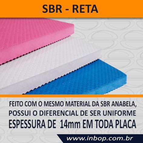 Fardo com 7 Placas 100% Borracha SBR Reta 1,30m x 0,85m x 14mm  - INBOP - Indústria de Borrachas e Polímeros