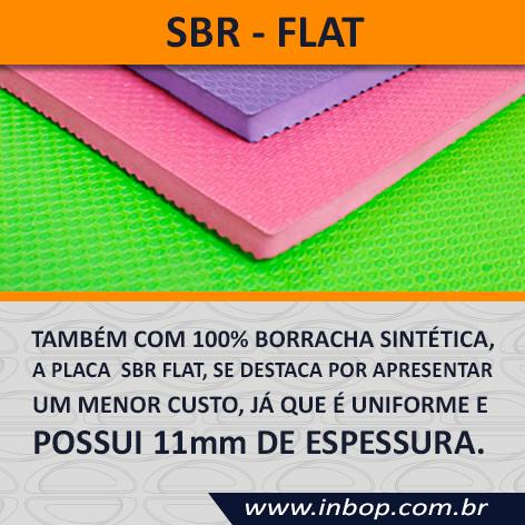 Placa 100% Borracha SBR Flat 1,20m x 0,80m x 10~11mm - Unidade  - INBOP - Indústria de Borrachas e Polímeros