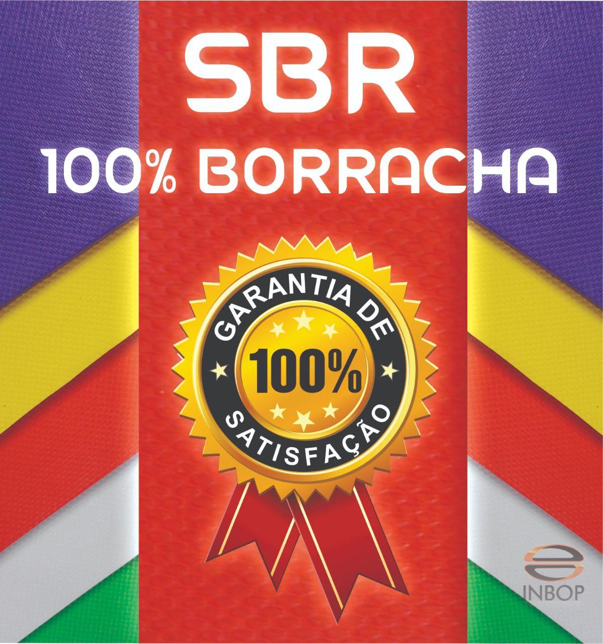 Placa 100% Borracha SBR Reta 1,30m x 0,85m x 14mm - Unidade  - INBOP - Indústria de Borrachas e Polímeros