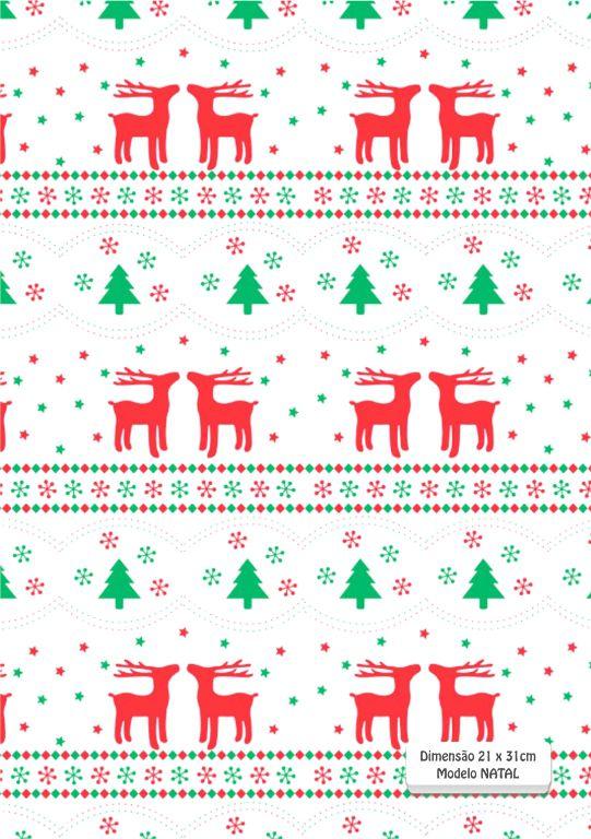 Quadrados de Borracha Top+ Estampado + Brinde de 30 pares de alças - Modelo Natal  - INBOP - Indústria de Borrachas e Polímeros