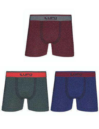 17f7cd6d0 Kit C 3 Cueca Boxer Lupo Fio Texturizado Sem Costura 441-006 - moda  principal