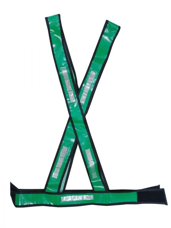 b68929b261bea Colete Refletivo Tipo X Verde - Grazia - Safety Work Equipamentos