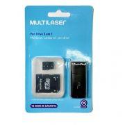 Cartão de Memória 64gb Classe 10 com Kit Adaptador Multilaser MC115