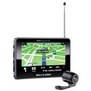 GPS Tracker Touchscreen 4,3 com Câmera de ré e TV Digital Multilaser GP035