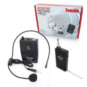 Microfone Profissional Wireless Headset Sem Fio MT-2205 Tomate