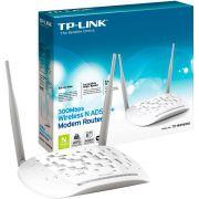 Modem Roteador Wireless N ADSL2 de 300Mbps TD-W8961N TP-Link