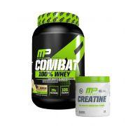 Whey Protein 100% Combat 900g + Creatina Monohidratada 300g Muscle Pharm