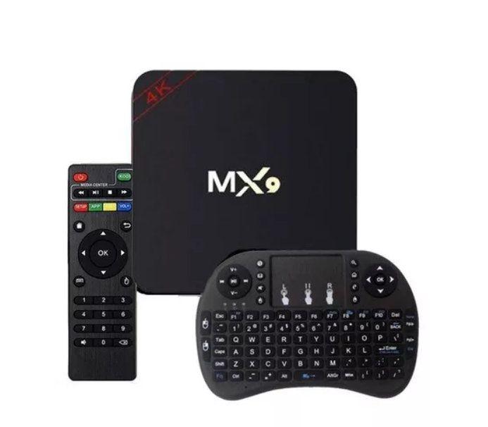Aparelho Tv Box MX9 Android 7.1 8gb com Mini Teclado Keyboard Wireless