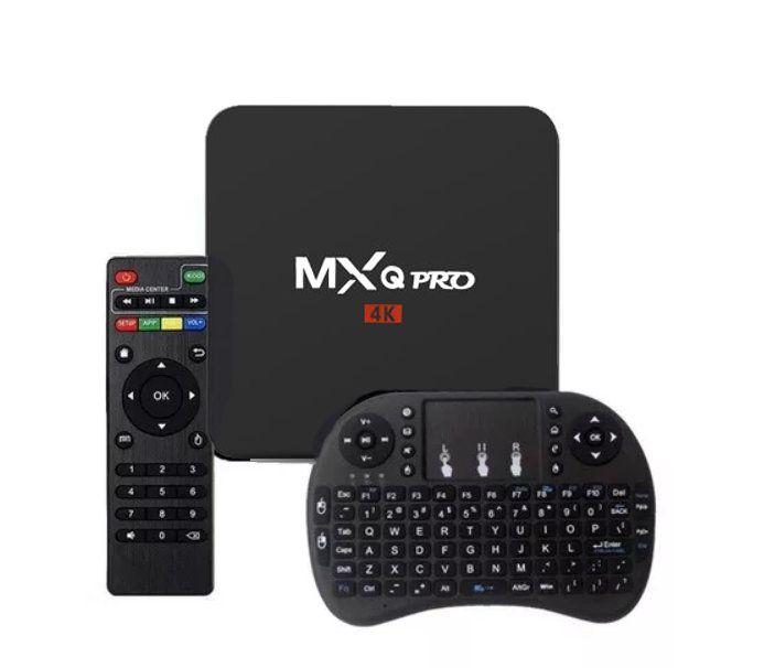 Aparelho Tv Box MXQ PRO 4k Android 7.1 16gb com Mini Teclado Keyboard Wireless