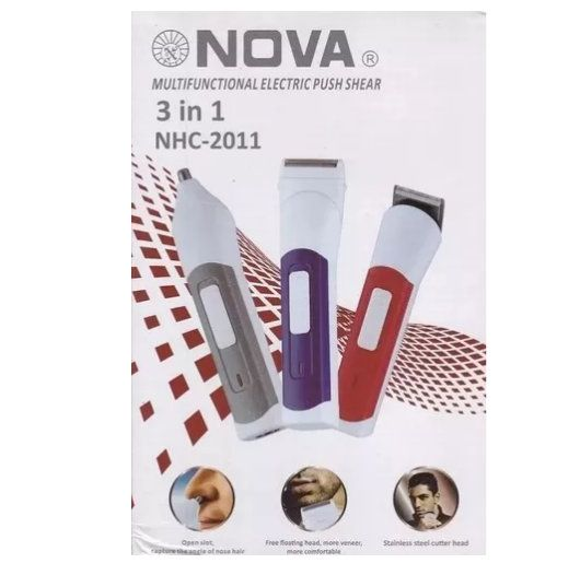 Barbeador E Aparador Nova 3 Em 1 Nhc-2011 - Nova