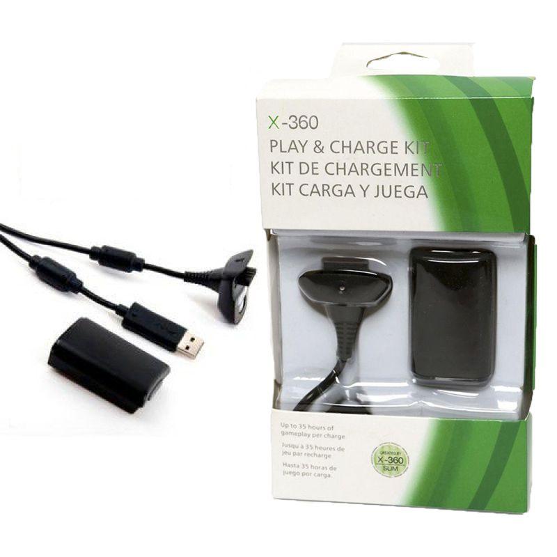 Bateria e Cabo Carregador Xbox 360