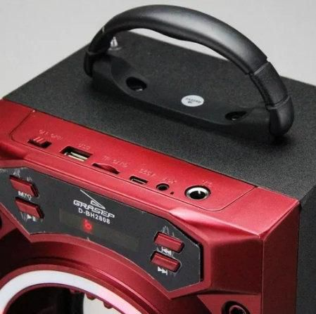 Caixa de Som Bluetooth com Luzes de Led D-BH 2808