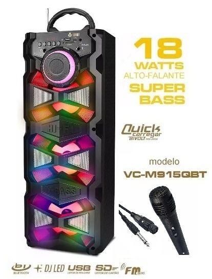 Caixa de Som Bluetooth, USB, AUX Voxcube VC-M915QBT