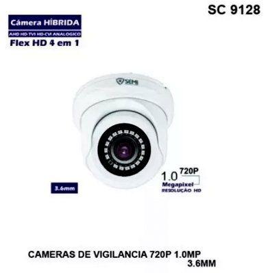 Câmera de Monitoramento Híbrida Flex HD 4 em 1 Semi SC-9136