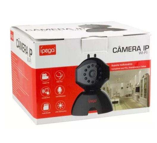 Câmera de Monitoramento Ip Wi-Fi KP-CA120 Ípega