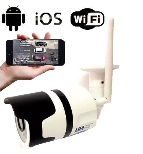 Câmera Ip Wifi Externa Monitoramento 720p LuaTek Lkw-3110