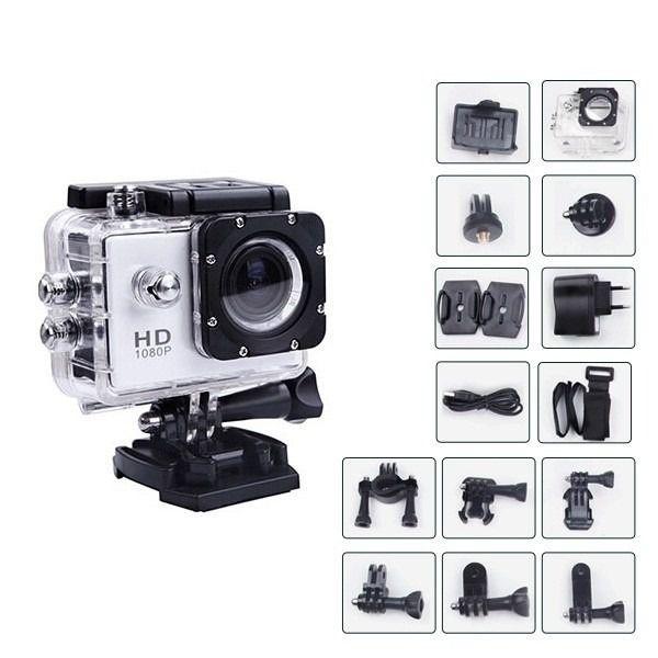 Câmera Sport Cam 1080P HD DV  H.264 Full HD
