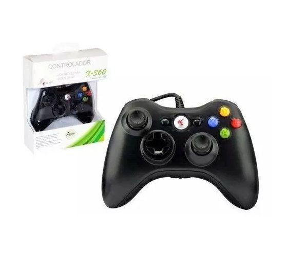 Controle Xbox 360 Com fio KP-5121A Knup