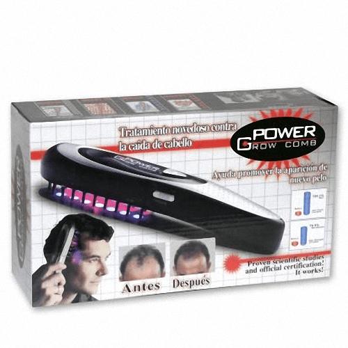 Escova Laser Power Grow - Estimula o crescimento dos cabelos