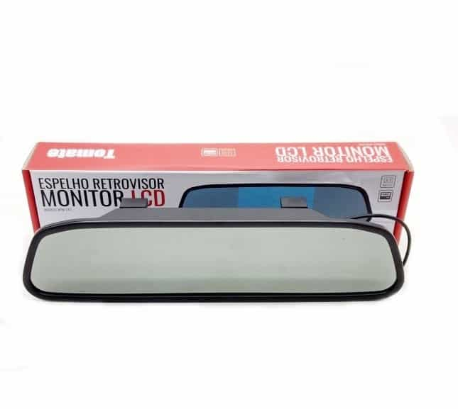 Espelho Retrovisor Monitor Veicular LCD Tomate LCD MTM-243