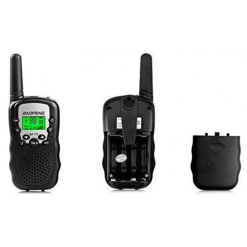 Kit 2 Rádio Comunicador Baofeng Mini Walkie Talkie - BF-T3