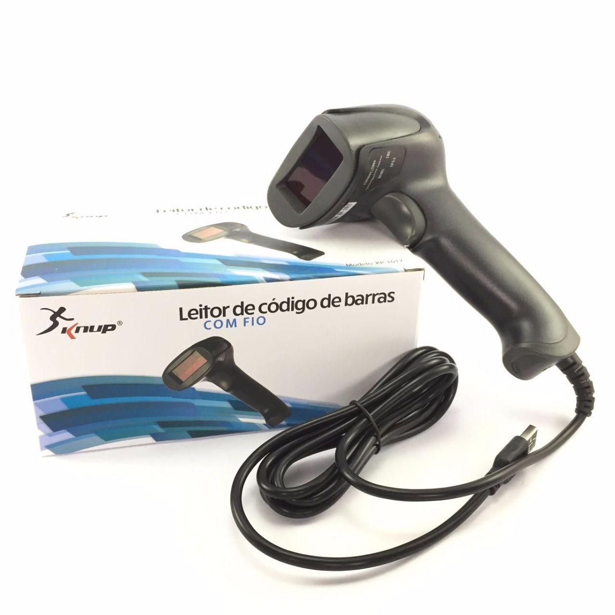 Leitor De Código De Barras Laser com fio Knup Kp-1017