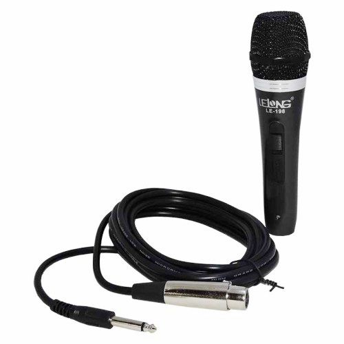Microfone Com Fio Dinâmico Lelong Le-198