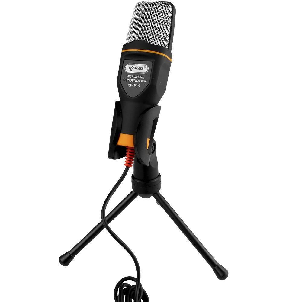 Microfone Condensador USB Kp-916 Knup