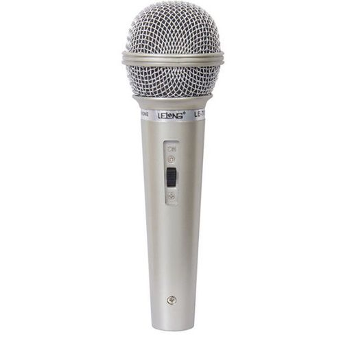 Microfone Profissional Com Fio Cabo P10 Lelong Le-501